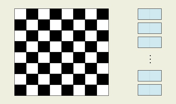 Schachbrett Wie Viele Felder